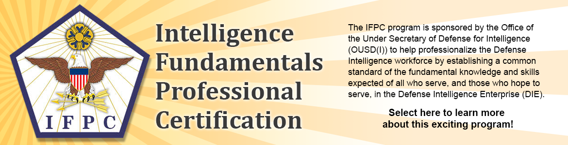 Intelligence Fundamentals Professional Certification (IFPC)
