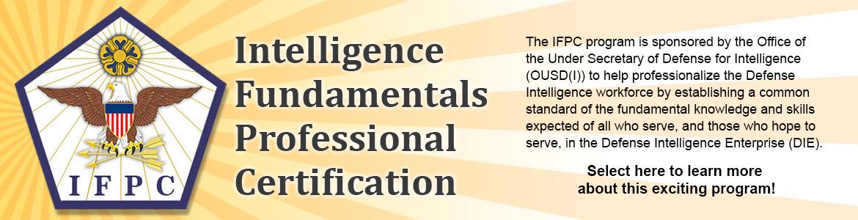 Intelligence Fundamentals Professional Certification (IFPC)